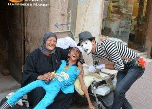 محمد سعيد أثناء عرضه في الشارع