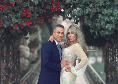 العميد محمد سمير وزوجته إيمان أبوطالب
