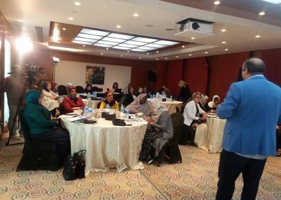 تواصل فعاليات اليوم الثاني للدورة التدريبية لمنظمة المرأة العربية   في مجال الأمن والسلام بالقاهرة