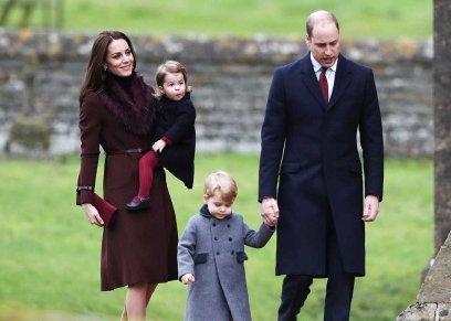 الأمير ويليام والدوقة كيت وأبناءهما