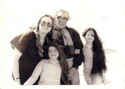 فريد شوقي وعائلته