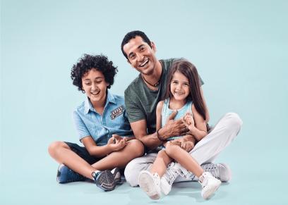 عمرو سعد مع ابناءه
