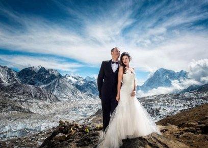 العروسان من أعلى قمم