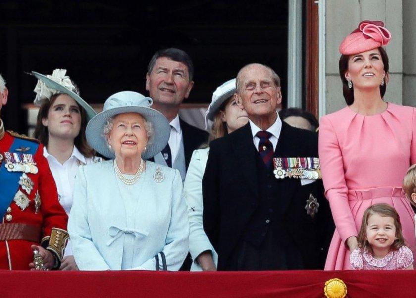 العائلة الملكية خلال الاحتفال