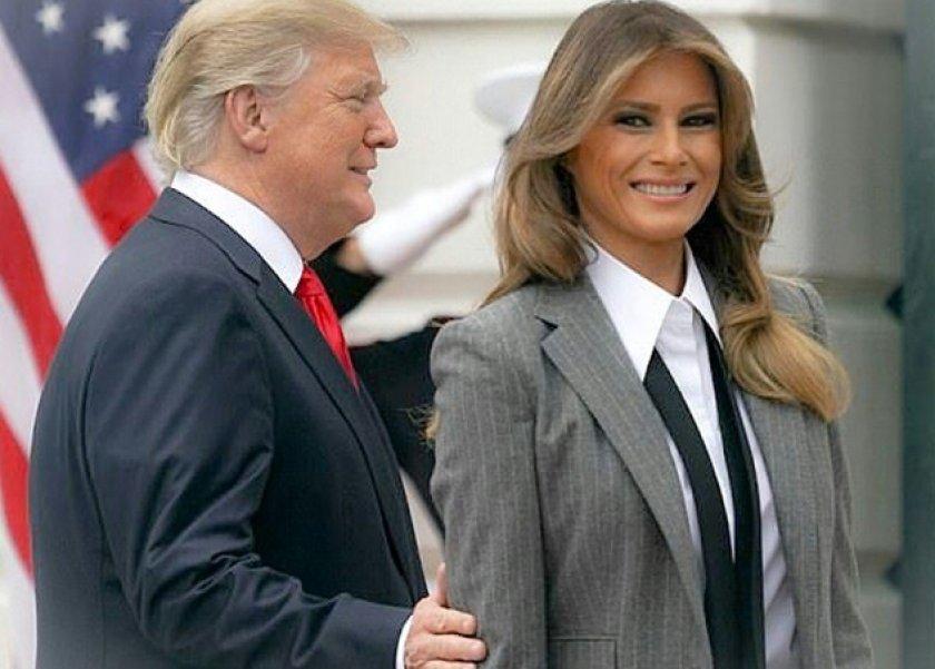 ميلانيا ترامب وزوجها